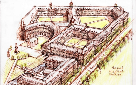 Design for Chelsea Barracks by Quinlan Terry